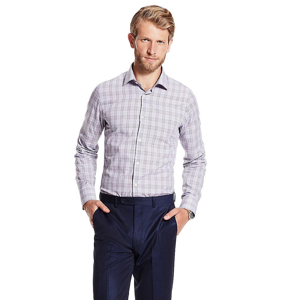 Lyst vince camuto modern fit check dress shirt in purple for Modern fit dress shirt