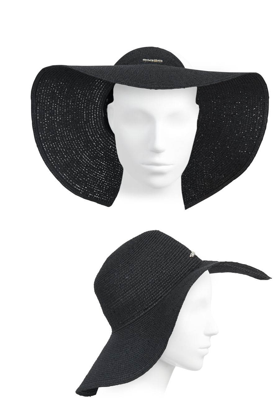 fa63ad9a1e5 Lyst - Calvin Klein Sequined Sun Hat in Black