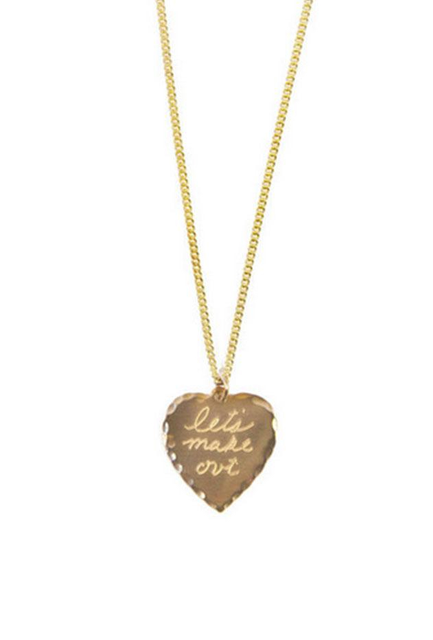 in god we trust lets make out necklace in gold lyst