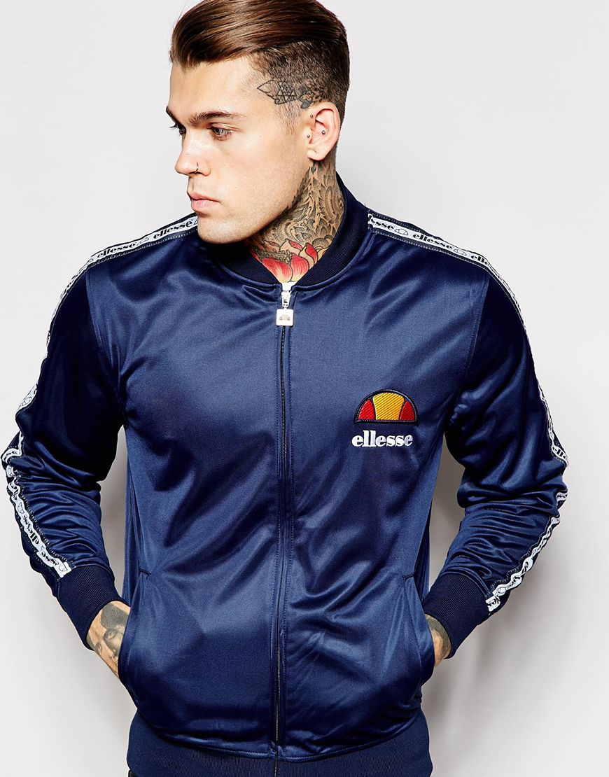 Ellesse Sena Track Jacket In Blue For Men Lyst