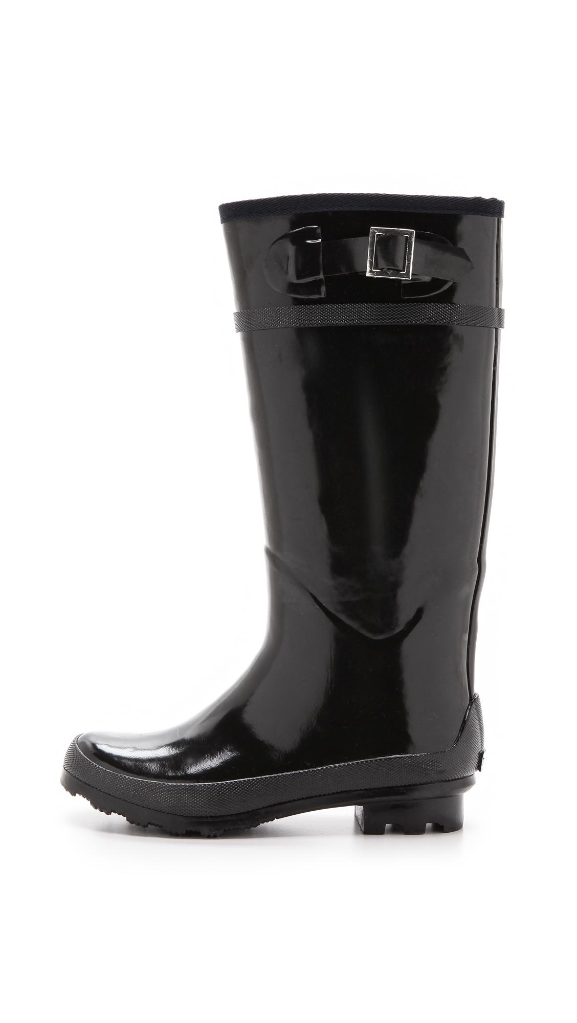 Superga Tall Rain Boots - Black
