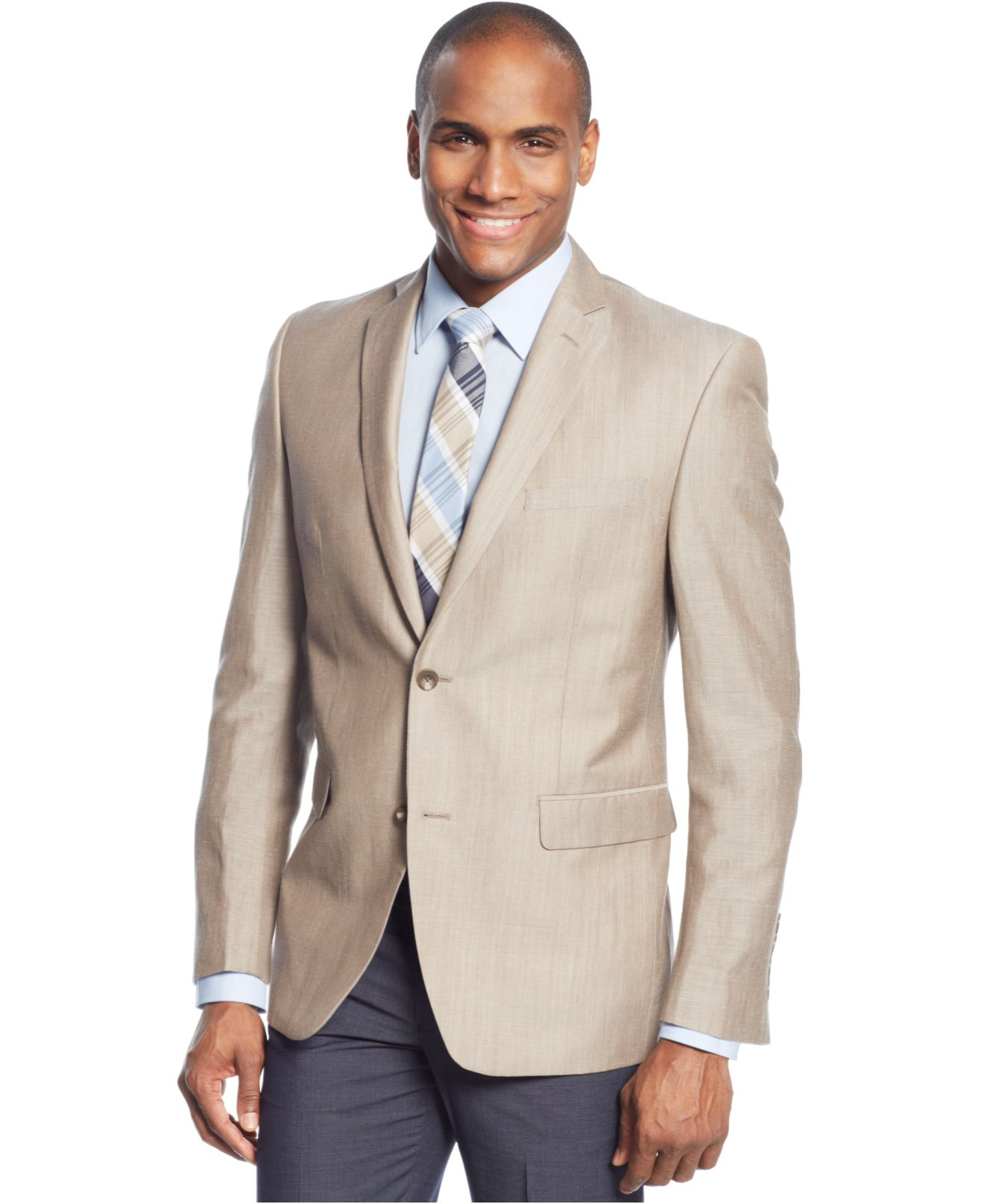 Andrew marc Marc New York By Solid Linen Sport Coat in Brown for ...