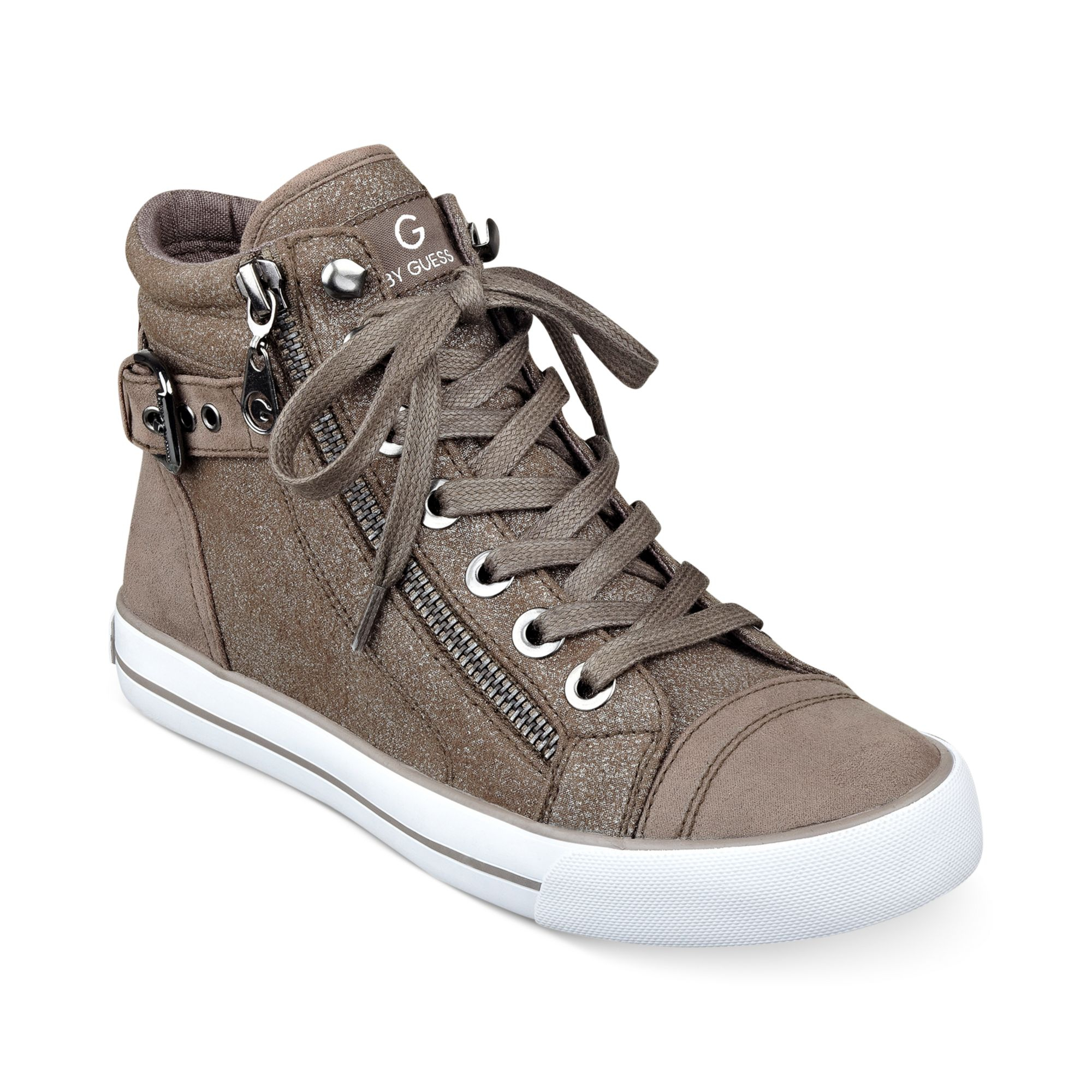 268d2ced1 Lyst - G by Guess Womens Olama High Top Sneakers in Gray