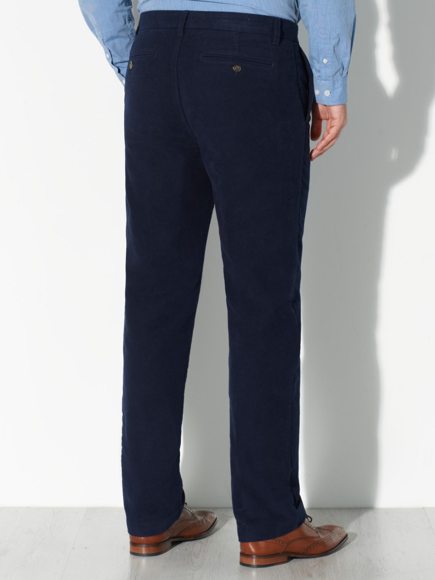 John Lewis Cotton Moleskin Trousers in Navy (Blue) for Men