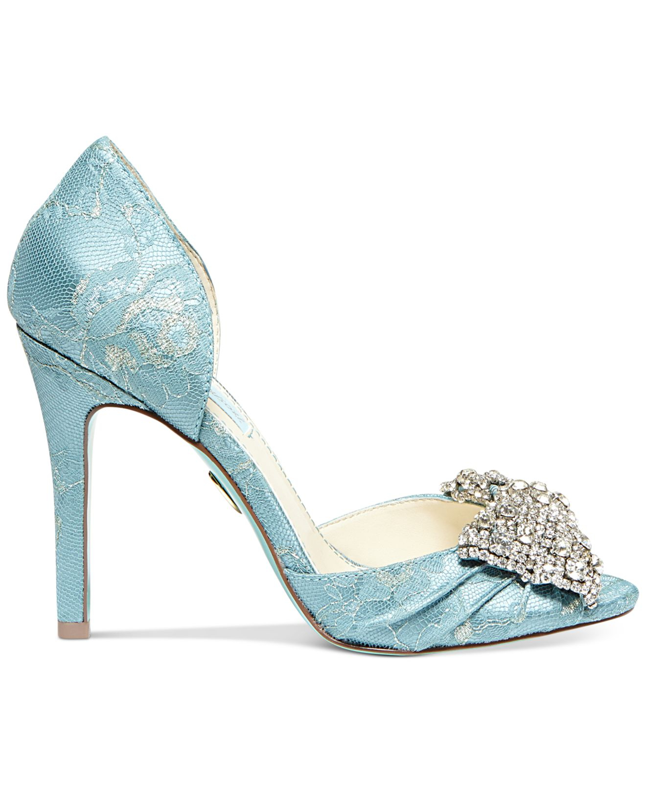 Lyst - Betsey Johnson Blue By Gown Evening Pumps in Blue