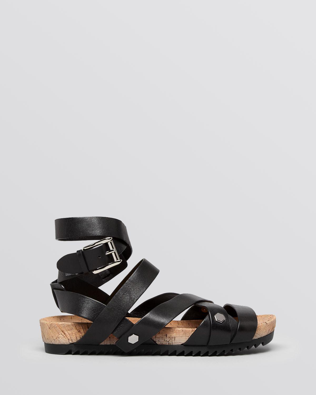 Rebecca Minkoff Flat Gladiator Sandals Tristen In Black Lyst