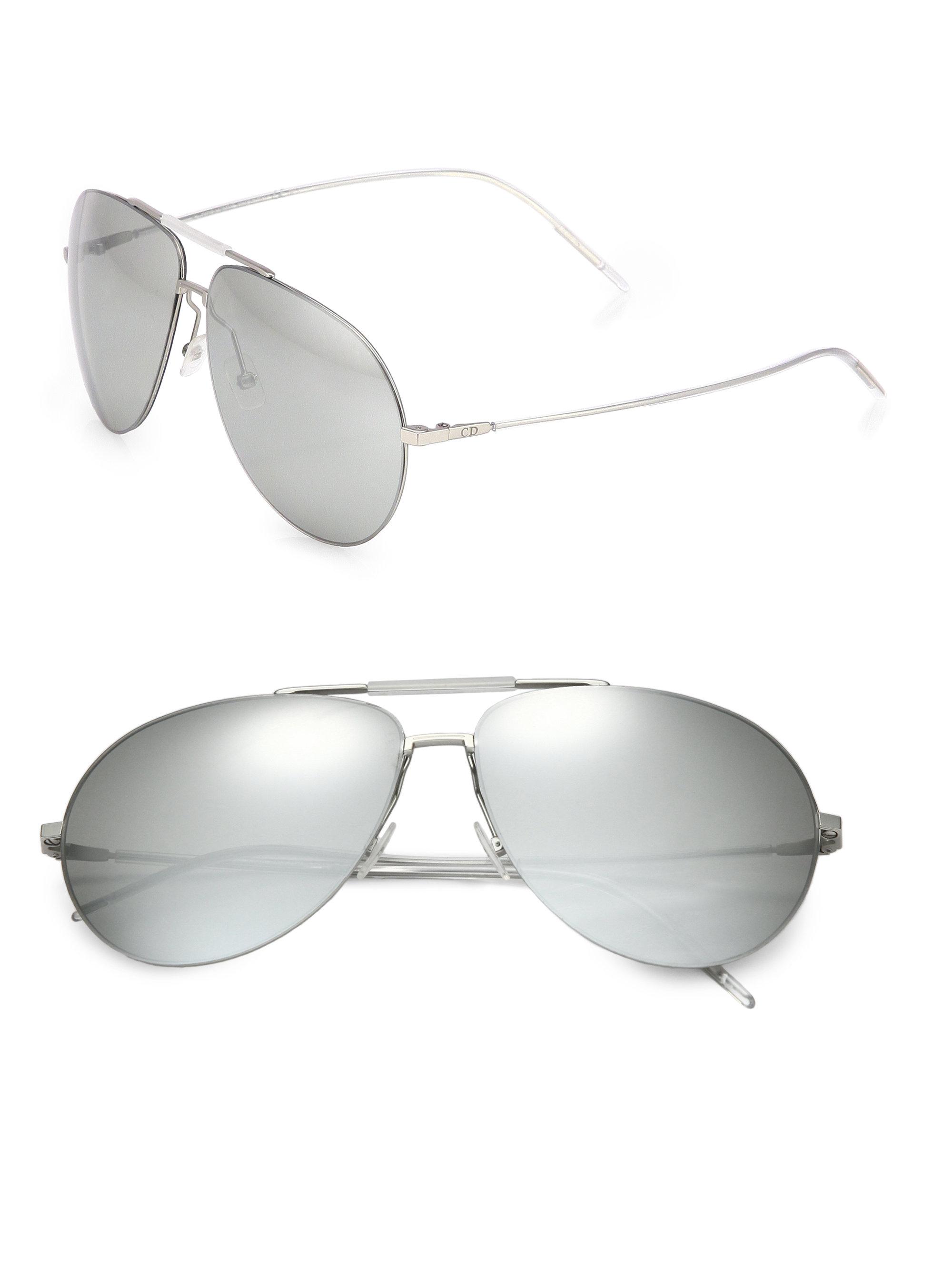 276da4d7144e Lyst - Dior Homme Metal Aviator Sunglasses in Metallic for Men