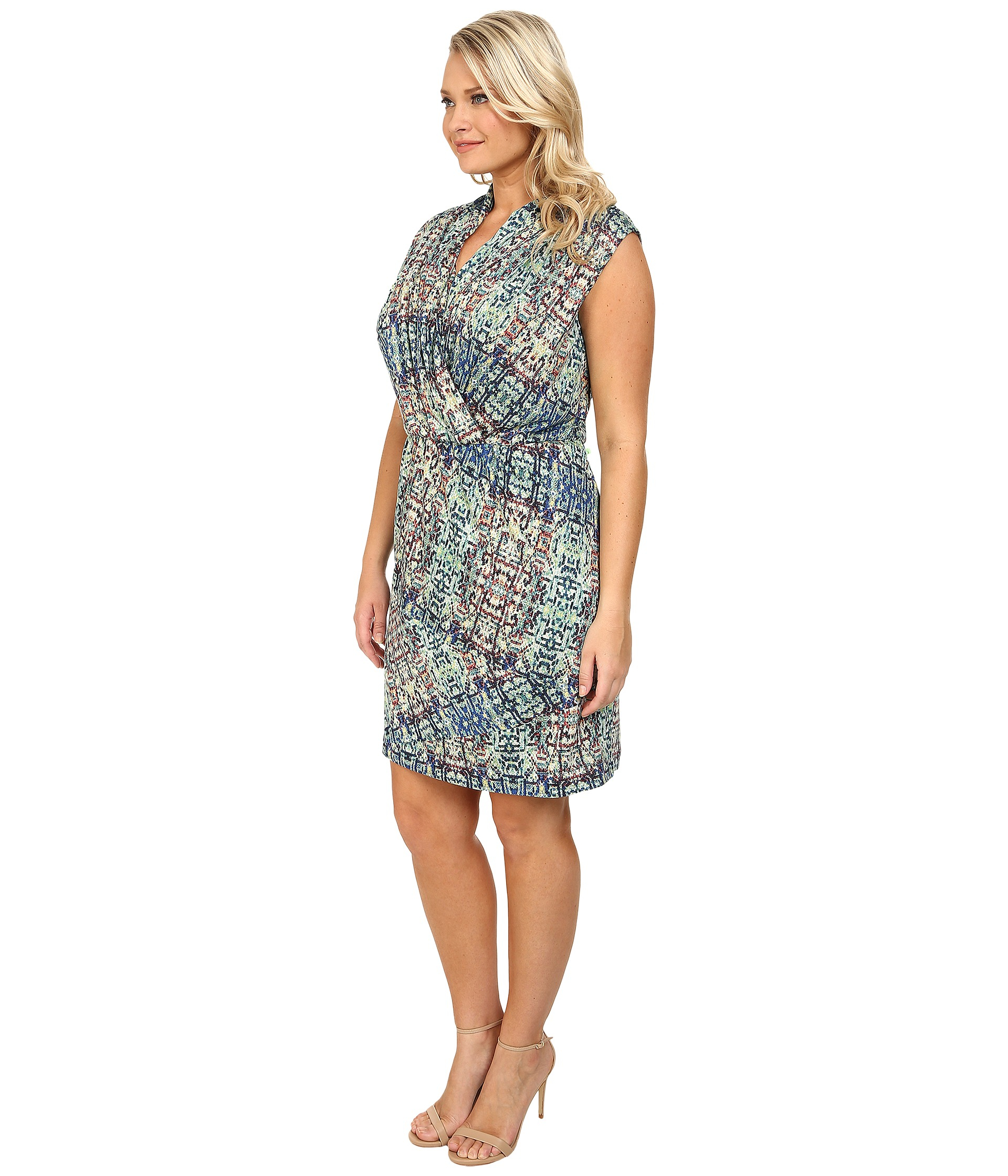 NIC+ZOE Multicolor Plus Size Urban Safari Dress