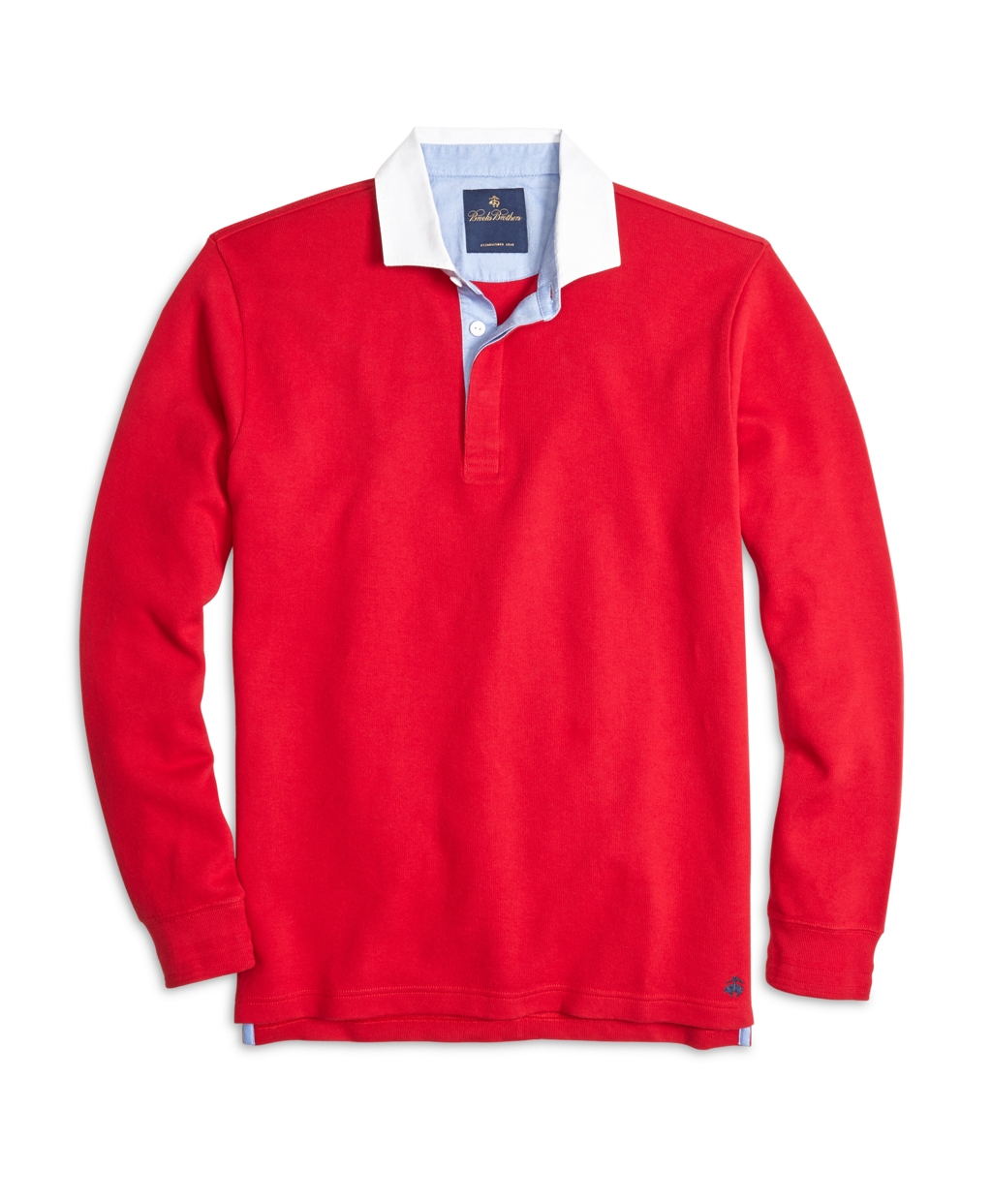 Brooks Brothers Rugby Shirt In Red For