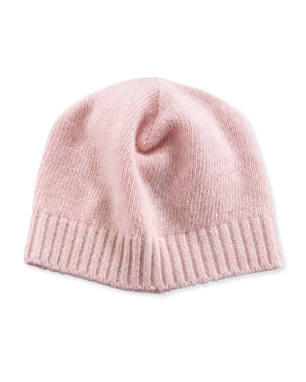 Lyst - Portolano Cashmere Basic Knit Beanie Hat in Pink 308f7ca08fa5