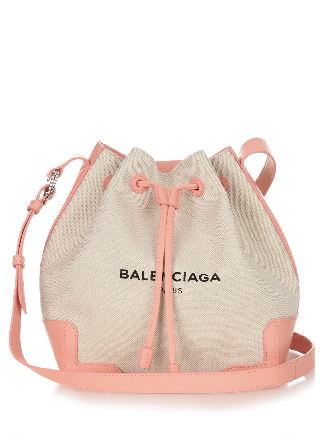 231fff0765fd Balenciaga Ligne Canvas And Leather Bucket Bag in Pink (PINK MULTI .