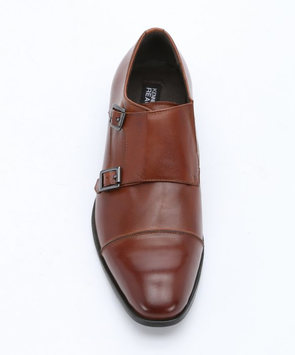 Kenneth Cole Reaction Cap Toe Leather Monk Strap