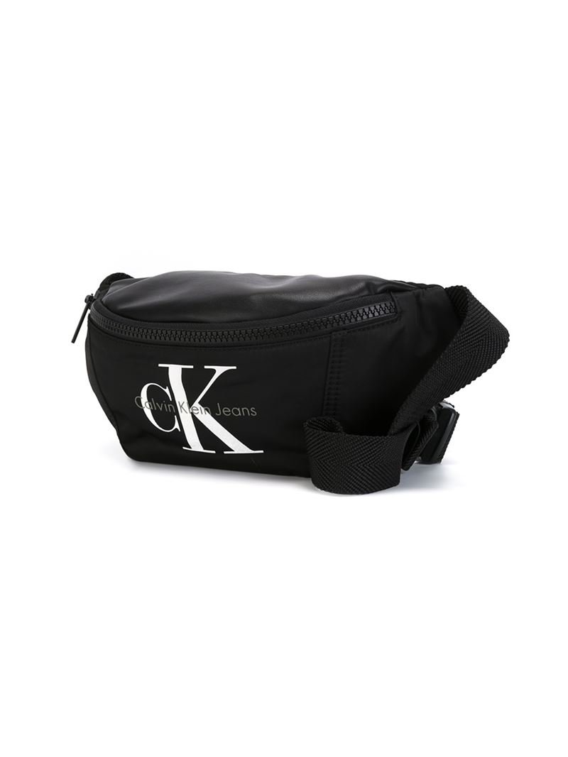 c319c2571ea17d Calvin Klein Logo Waist Bag in Black - Lyst
