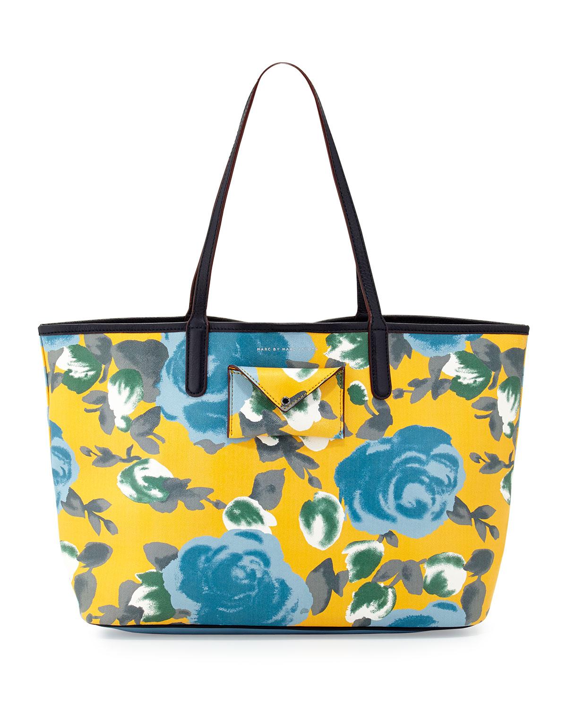 marc by marc metropolitote floral print tote bag in