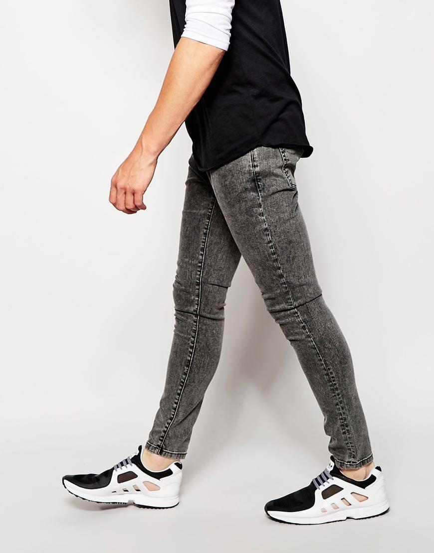 93c9c0d0ff Lyst - Brooklyn Supply Co. Jeans Super Skinny Fit Acid Wash Black in ...