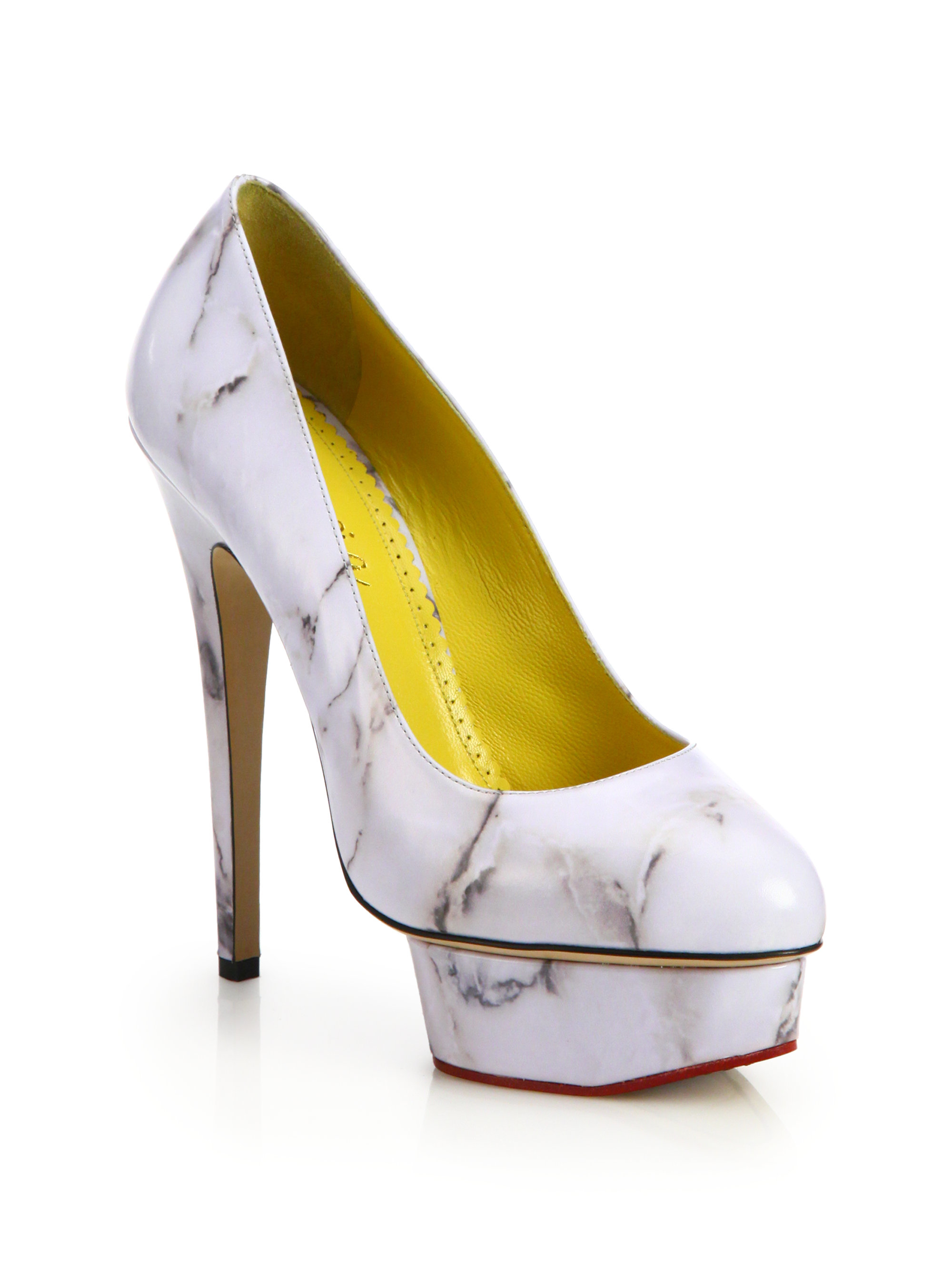 Charlotte Olympia Marble-print Dolly