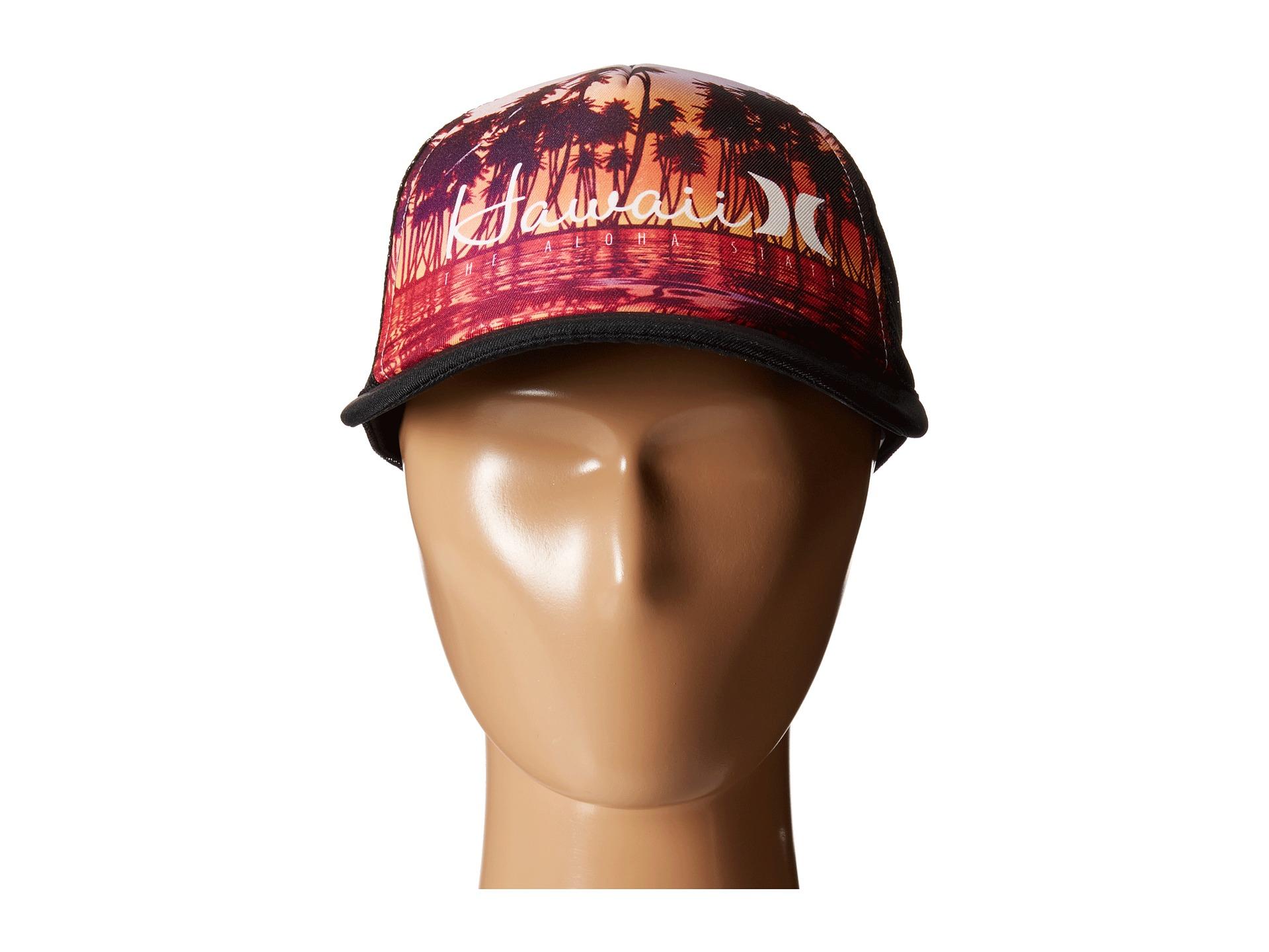 sports shoes b97d0 02ec8 Hurley Destination Trucker Hat in Black for Men - Lyst