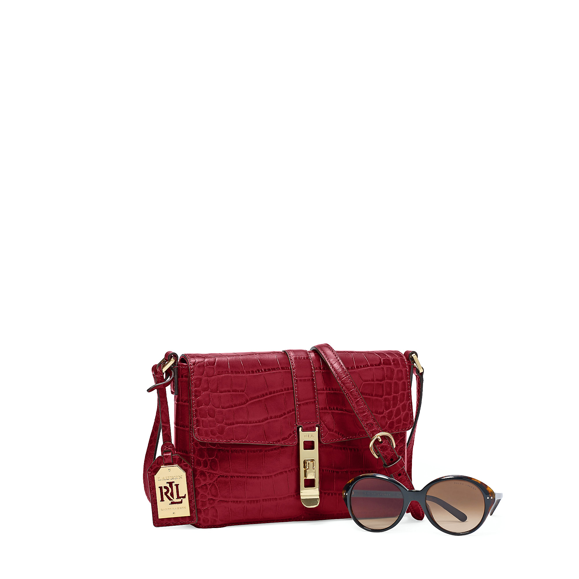 d4cf1cd3d4 Lyst - Ralph Lauren Darwin Leather Cross-body Bag in Red