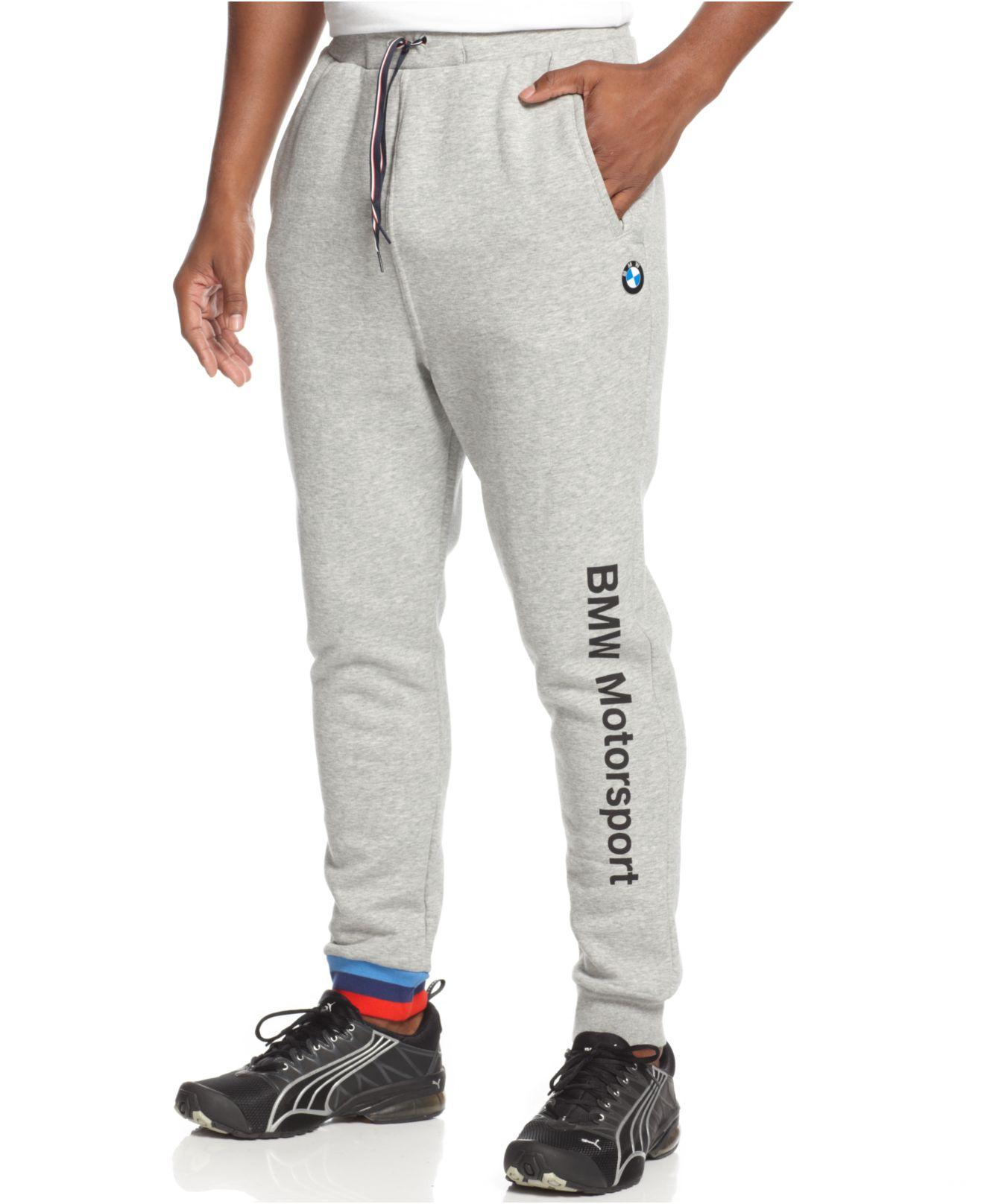 8821cc7016 PUMA Gray Bmw Fleece Jogger Pants for men