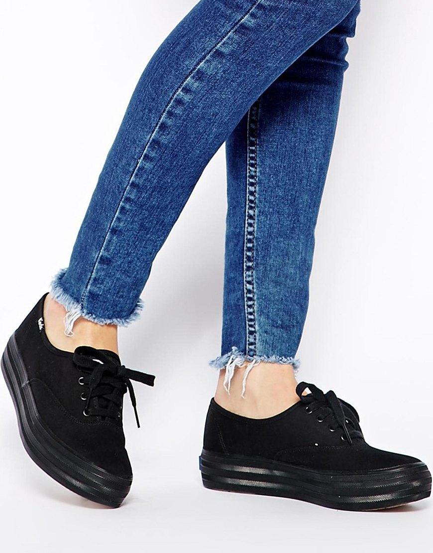 Keds Triple Black Flatform Sneakers - Lyst