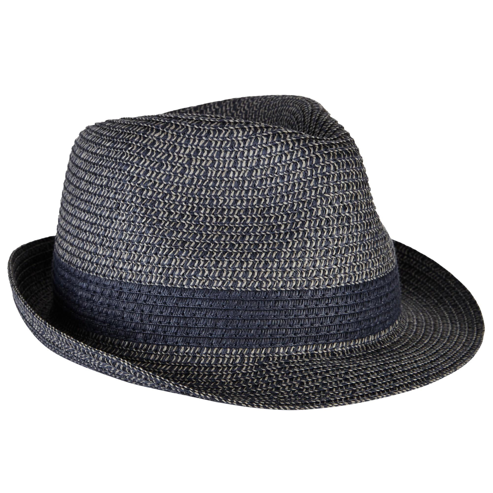 John Lewis Packable Braid Trilby Hat in Black for Men - Lyst bafb551e8237