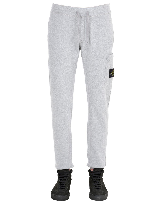 1a530bb604 Stone Island Gray Slim Fit Cotton Jogging Pants for men