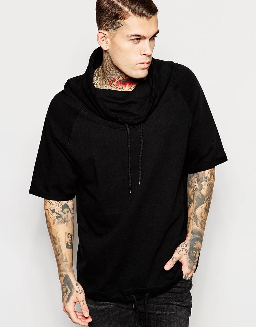 Mens Funnel Neck Sweatshirt Photo Album - Blackfashionexpo