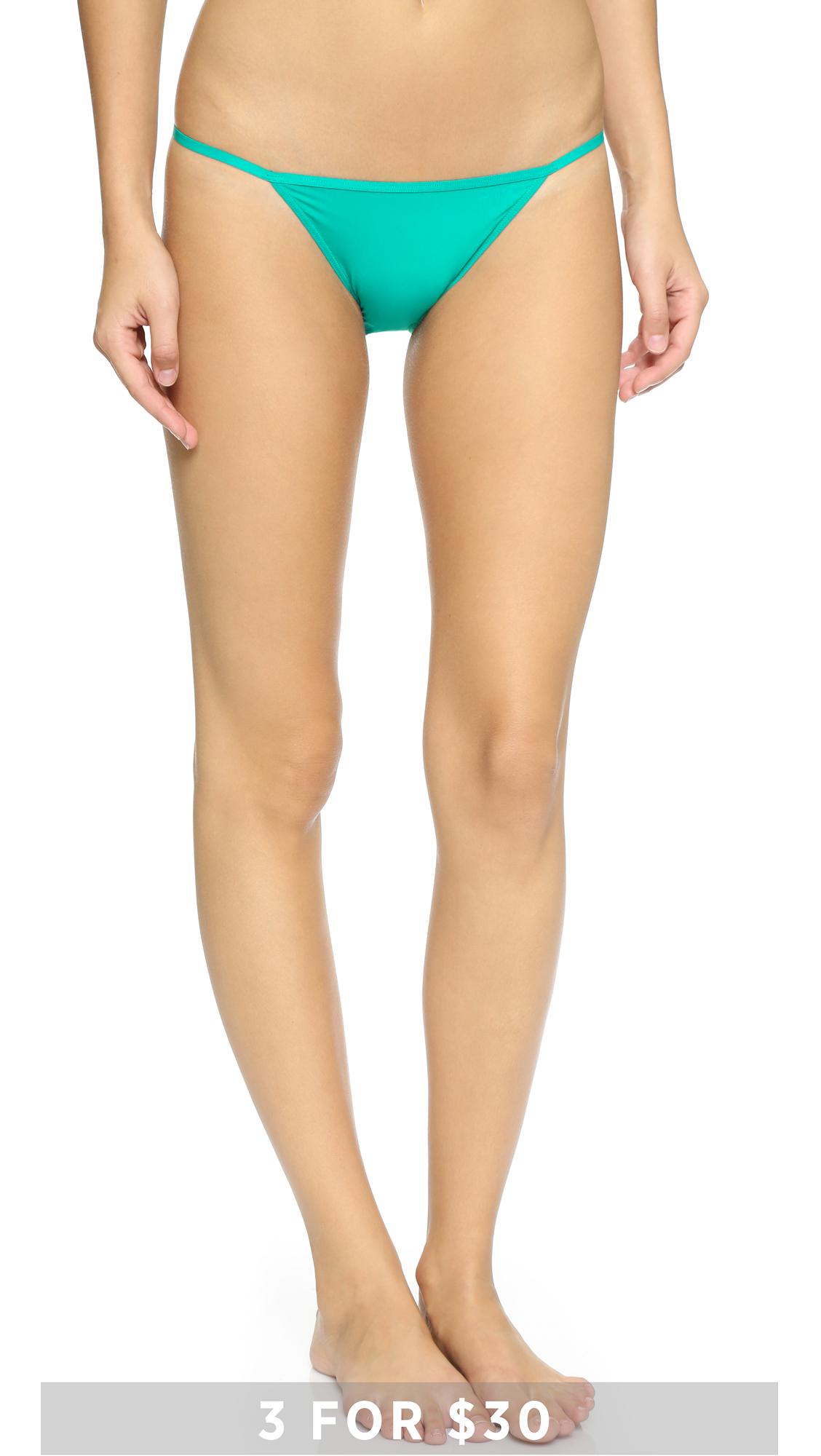 f24799d8858 Calvin Klein Sleek String Bikini Panties - Purity in Green - Lyst
