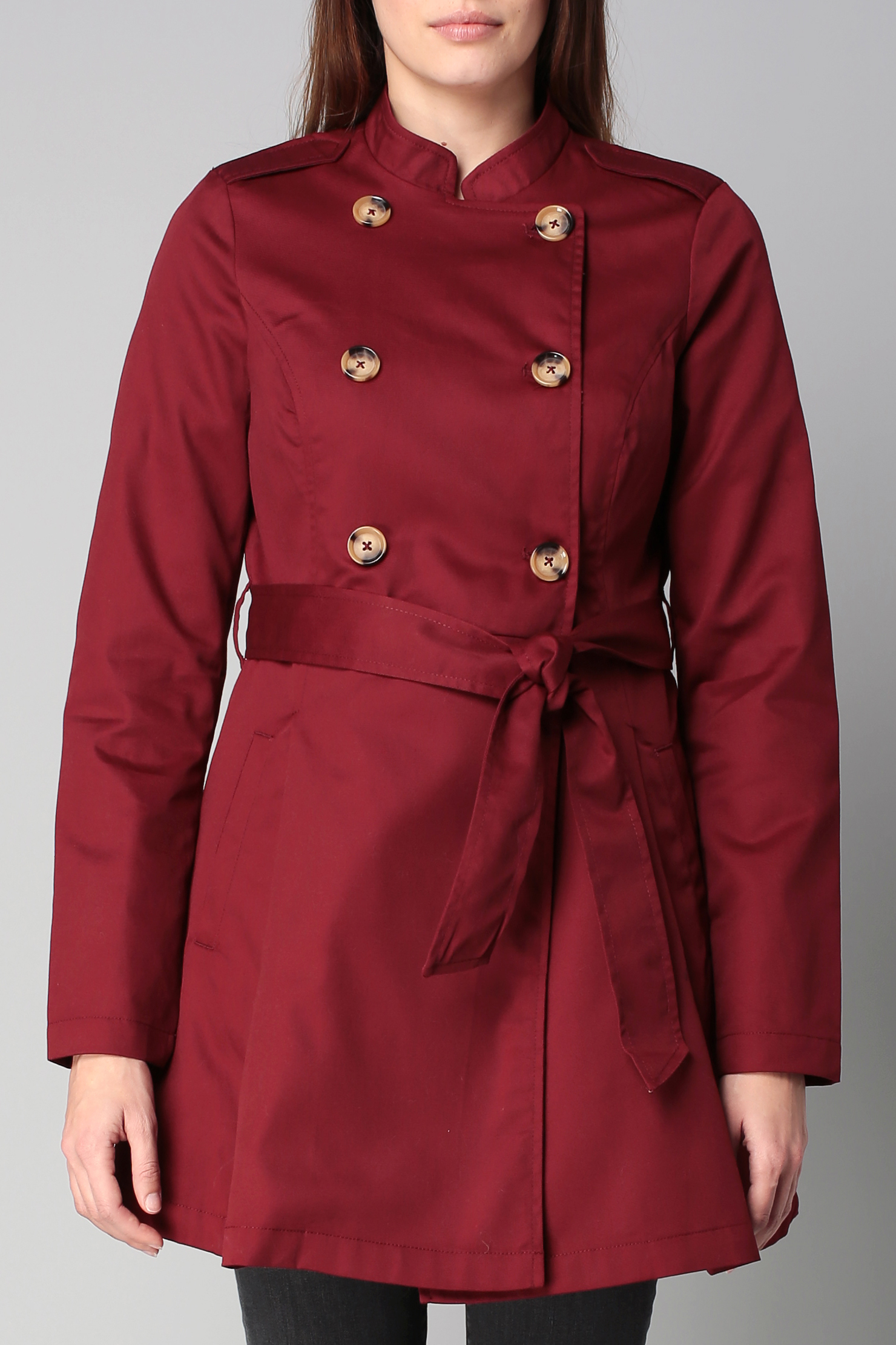 vero moda trench parka in red save 52 lyst. Black Bedroom Furniture Sets. Home Design Ideas