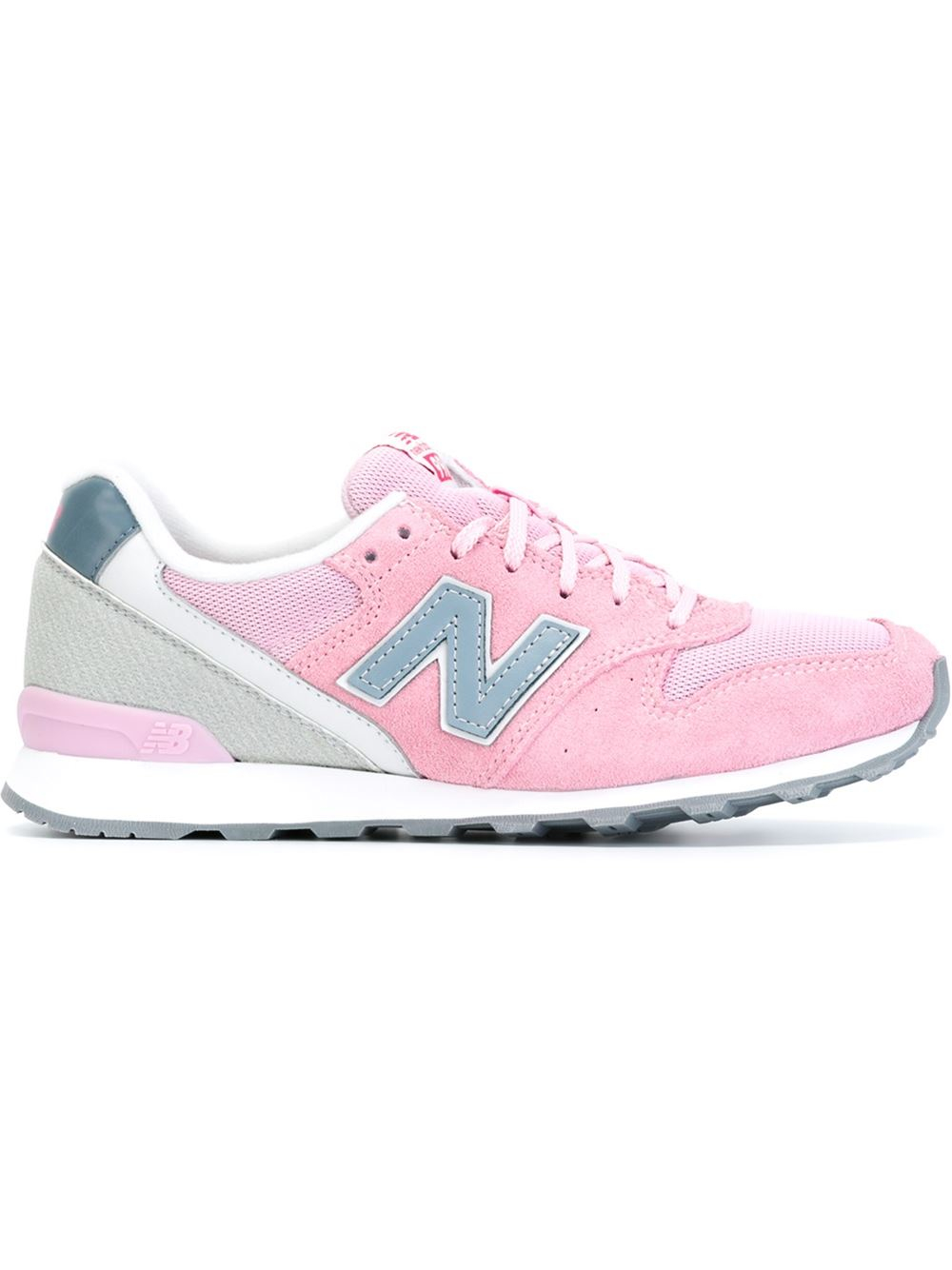 New Balance '966' Sneakers in Pink & Purple (Pink) - Lyst