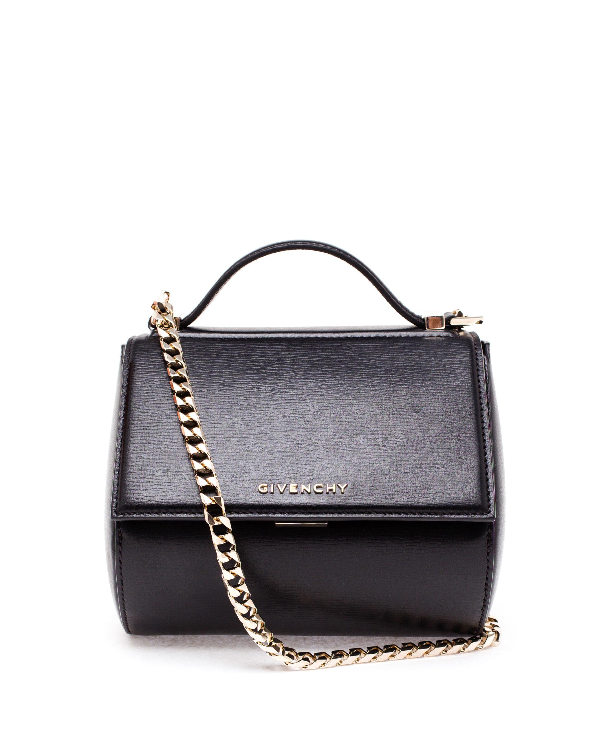 a5ad2e9d5c14c Givenchy Mini Leather Pandora Box Bag in Black - Lyst