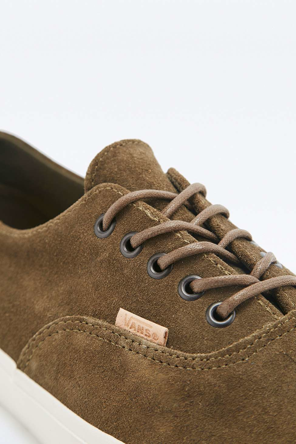 d43b102c78 Vans Era Decon Ca Raw Suede Olive Trainers in Green for Men - Lyst
