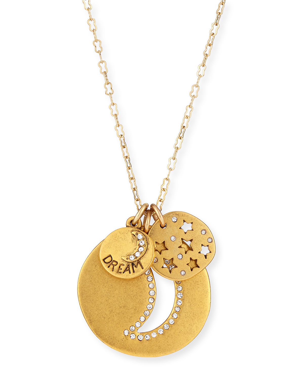 Sequin Full Moon Talisman Necklace voBiBqgJQ0