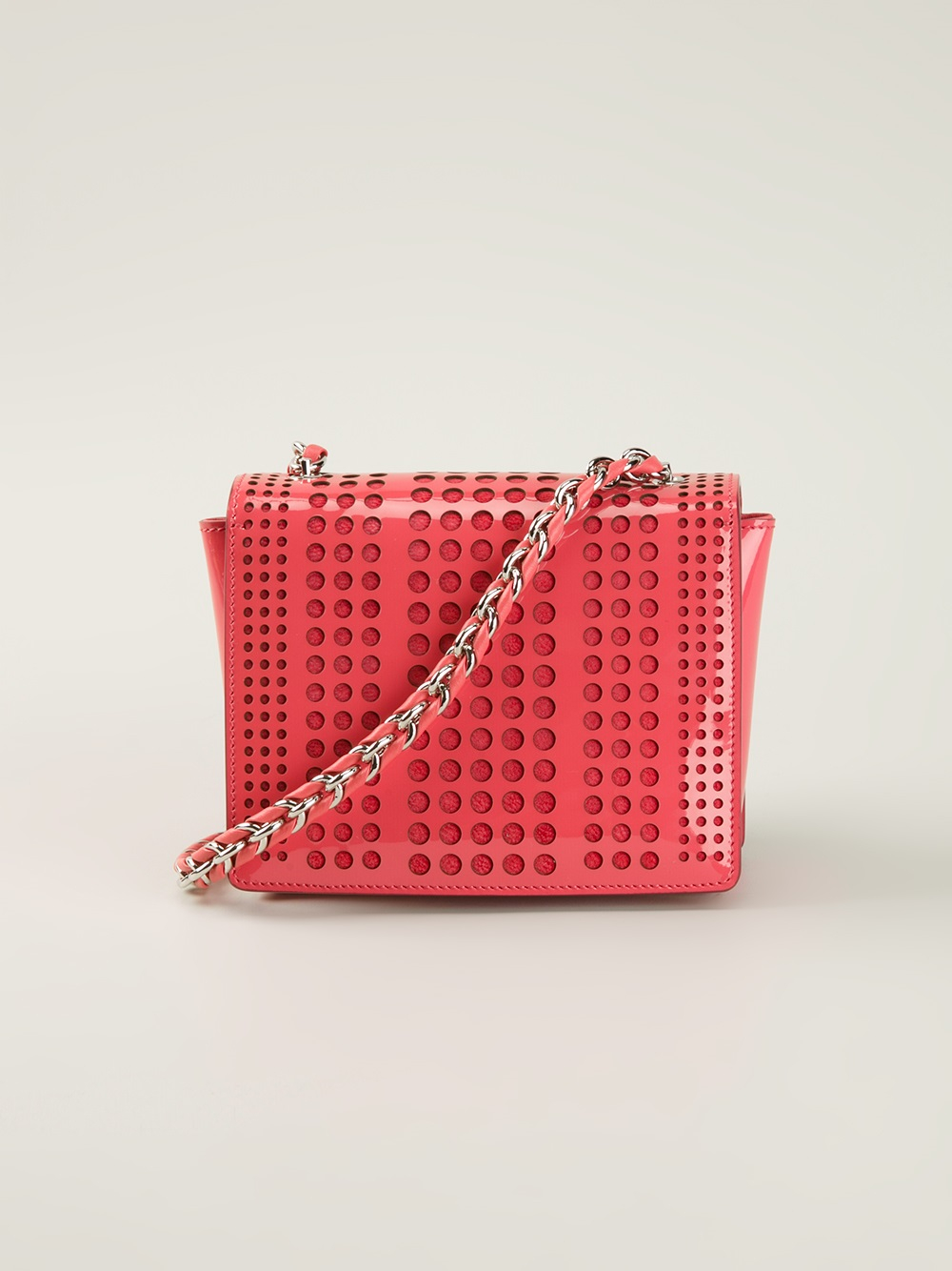 Ferragamo Ginny Perforated Cross Body Bag in Red - Lyst b9cce2c8e3c45