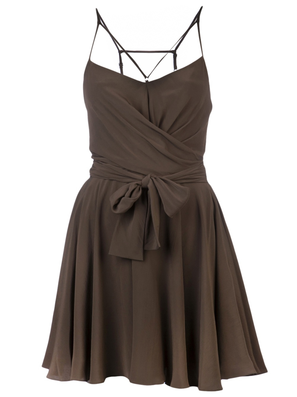 Kenzo Wrap Around Dress In Olive Green Lyst