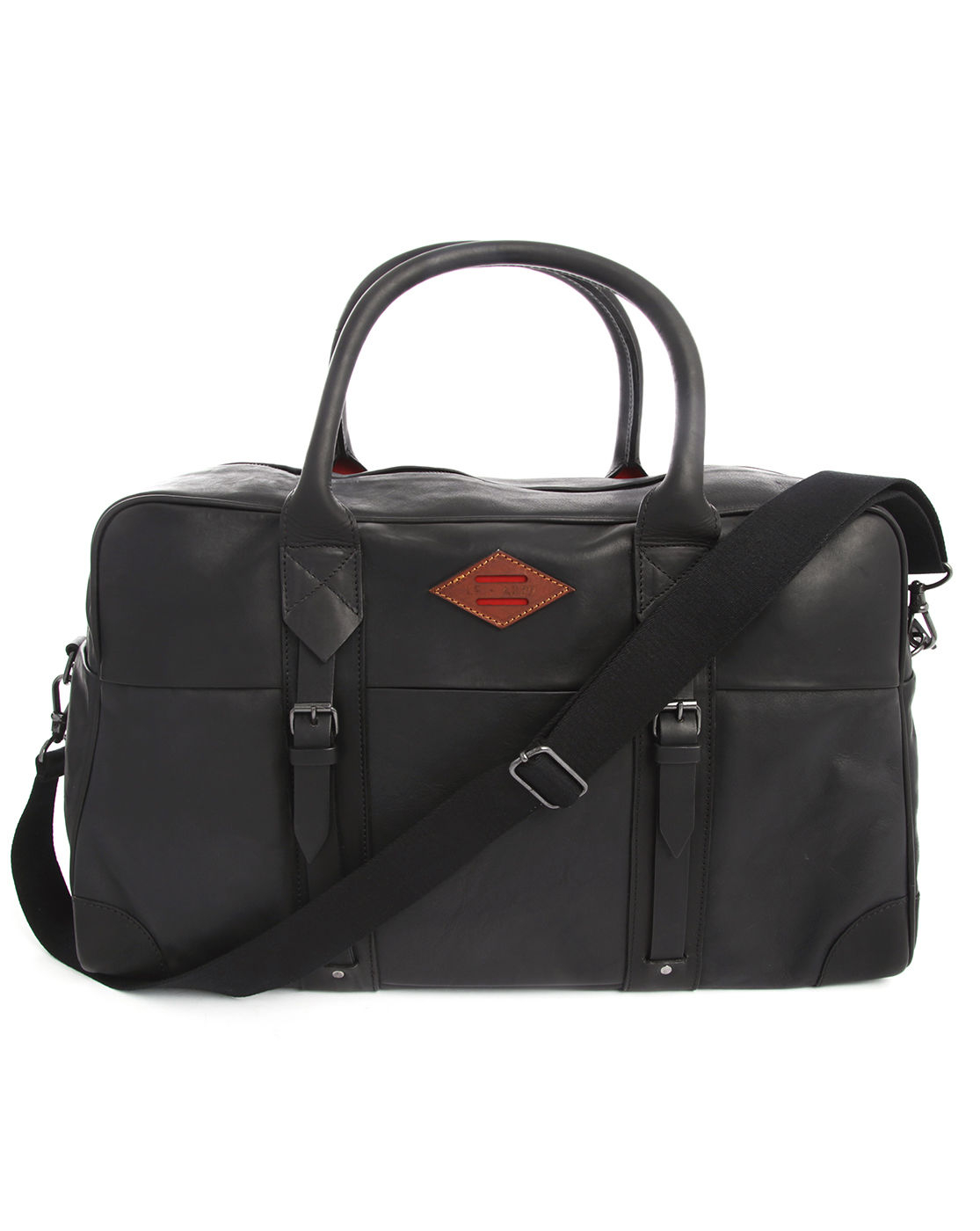 Leon flam 48H Bag, Black Leather in Black for Men | Lyst