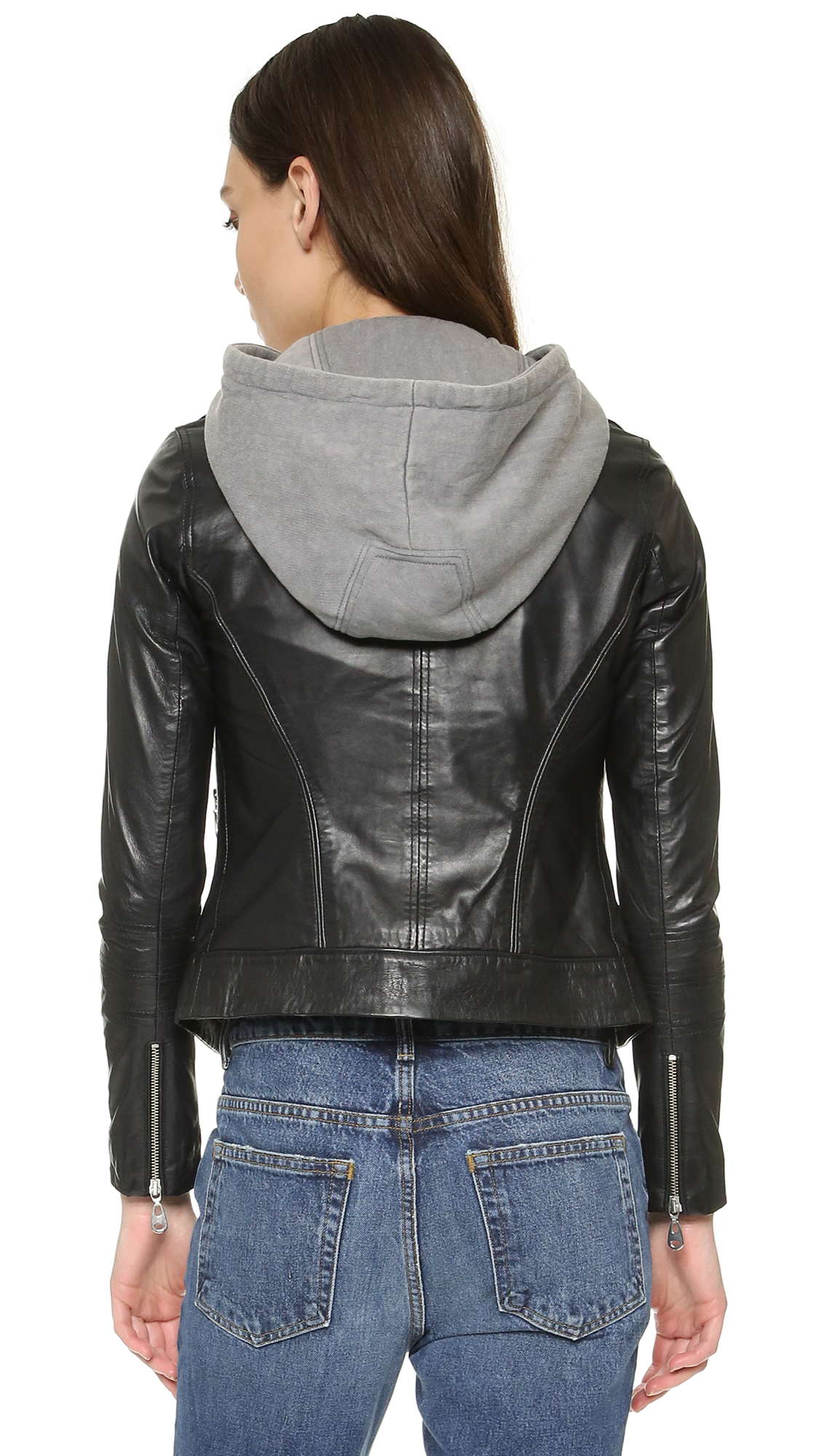 Lyst - Doma leather Venice Hooded Leather Jacket in Brown