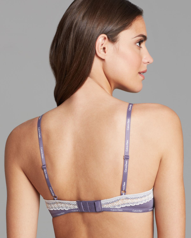 1e28274dbc Lyst - Calvin Klein Underwire Bra Perfectly Fit Sexy Signature ...