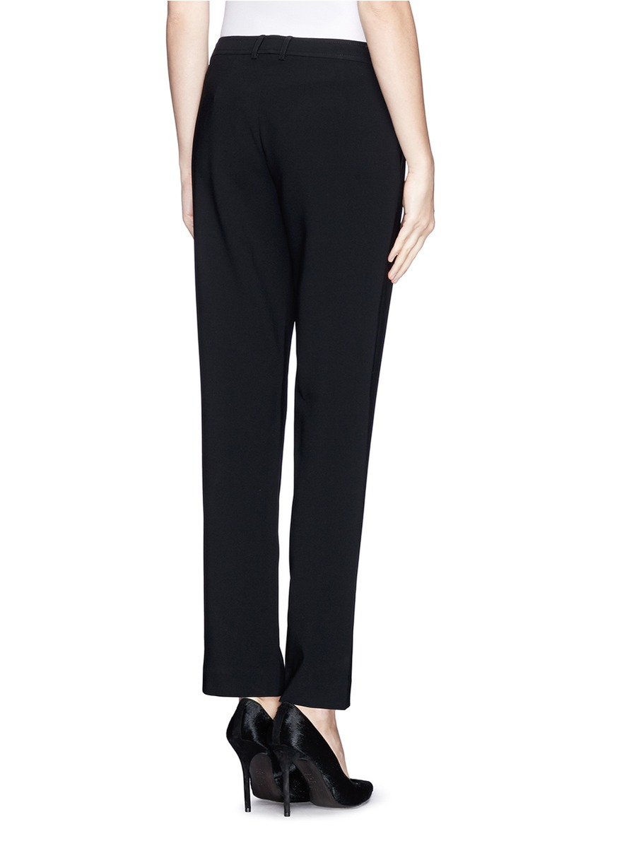 Lyst St John Jennifer Split Hem Ankle Grazer Pants In
