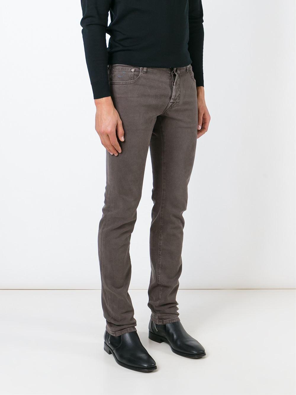 jacob cohen slim fit jeans in brown for men lyst. Black Bedroom Furniture Sets. Home Design Ideas