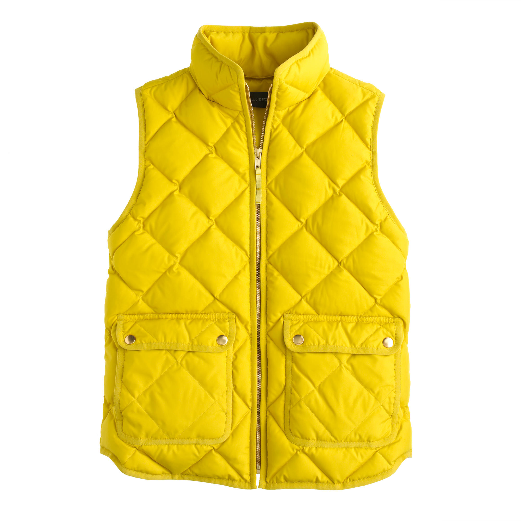 Lyst J Crew Excursion Quilted Down Vest In Yellow