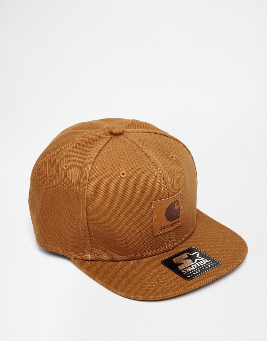 fa4c1b6d3ebde9 ... cheapest lyst carhartt wip logo starter snapback cap in brown for men  419fd 14ddc