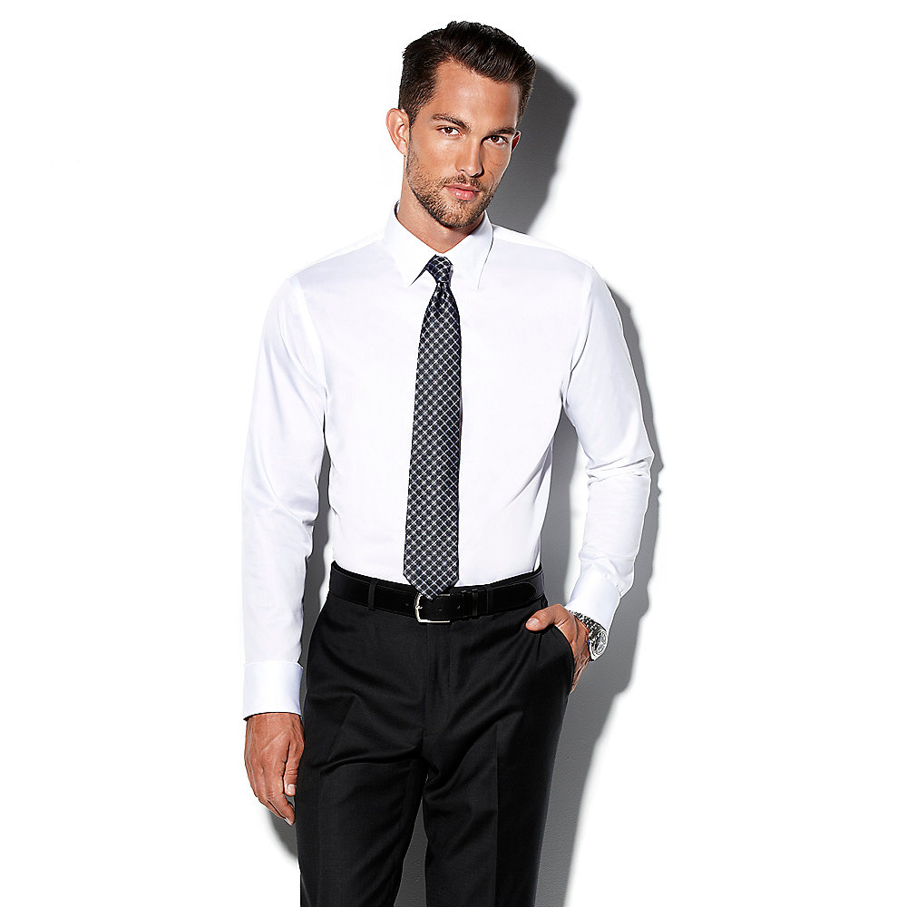vince camuto modern fit solid dress shirt in white lyst