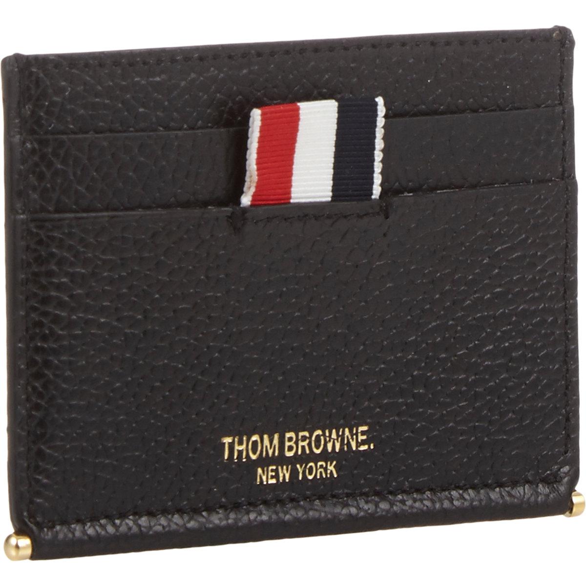 3503b81a32 Thom Browne Credit Card Holder in Black for Men - Lyst