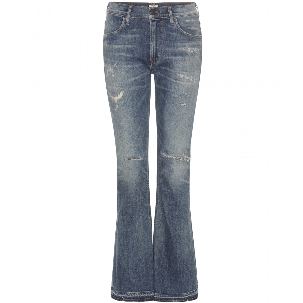 lyst citizens of humanity drew flare jeans in blue. Black Bedroom Furniture Sets. Home Design Ideas