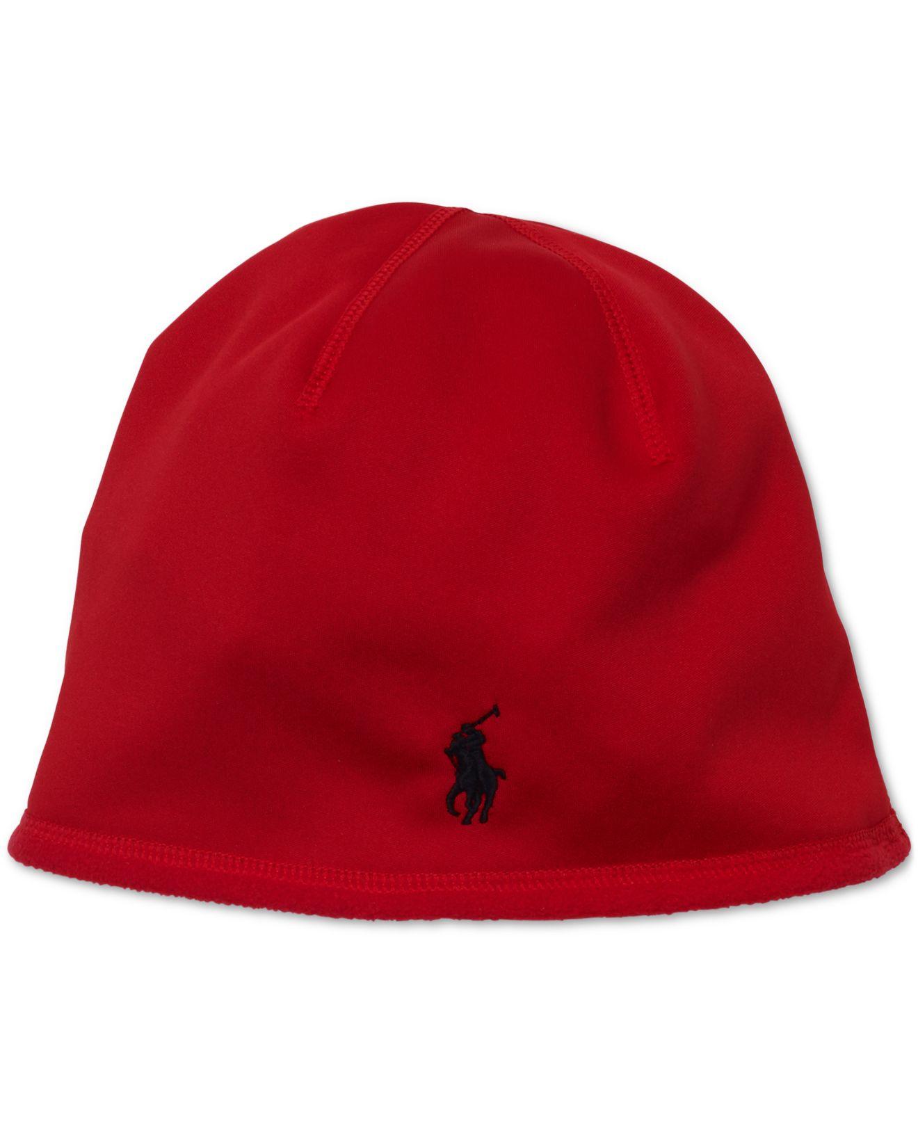 polo ralph lauren bonded skull cap in red for men rl 2000 lyst. Black Bedroom Furniture Sets. Home Design Ideas