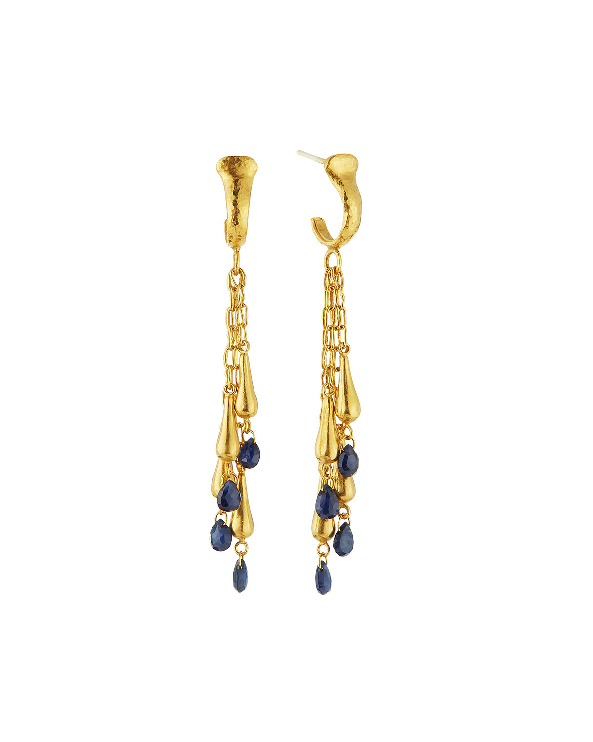 Gurhan 24k Sapphire Dew Briolette Earrings 96AMewLbd