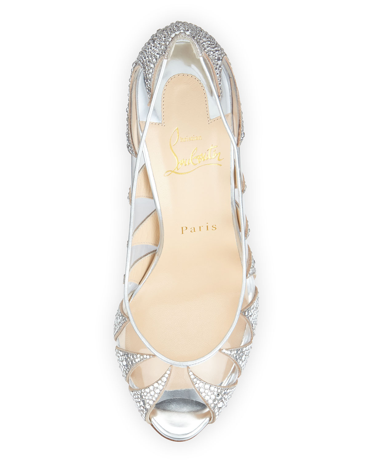 imitation louis vuitton shoes - Christian louboutin Indera Crystal-Embellished Pumps in Silver | Lyst