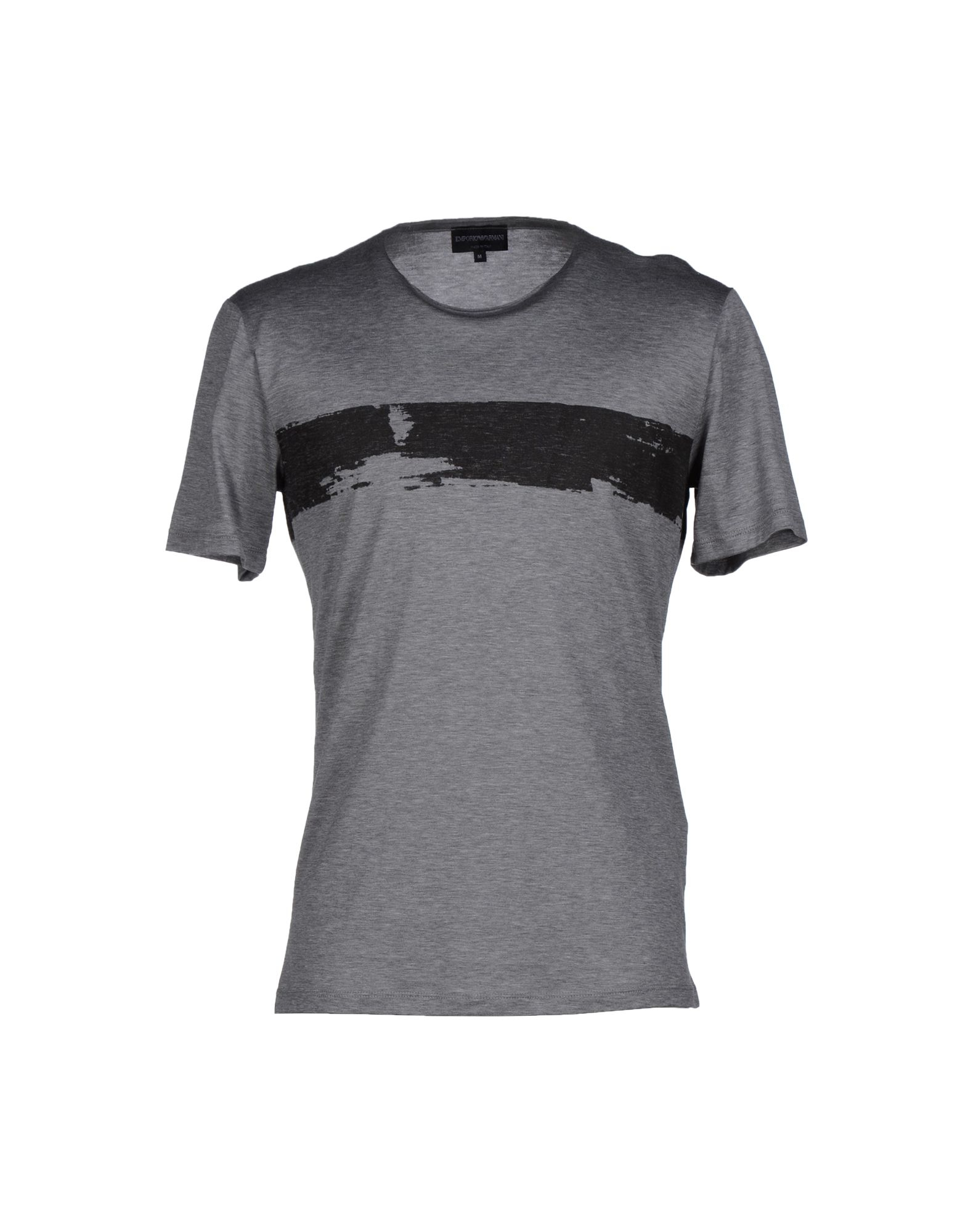 emporio armani t shirt in gray for men grey lyst. Black Bedroom Furniture Sets. Home Design Ideas