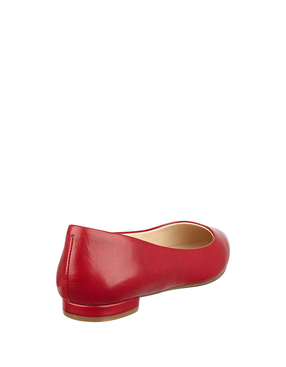 Nine West Onlee Leather Point Toe Flats In Red Lyst